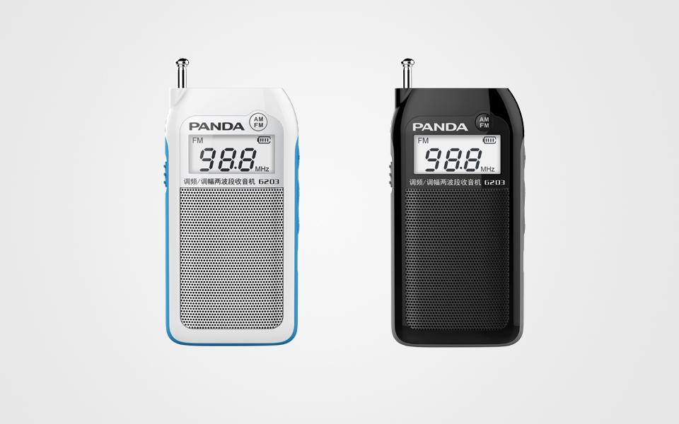 熊猫 袖子收音机-6203